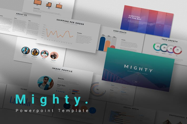 Thumbnail for Mighty - Powerpoint Template
