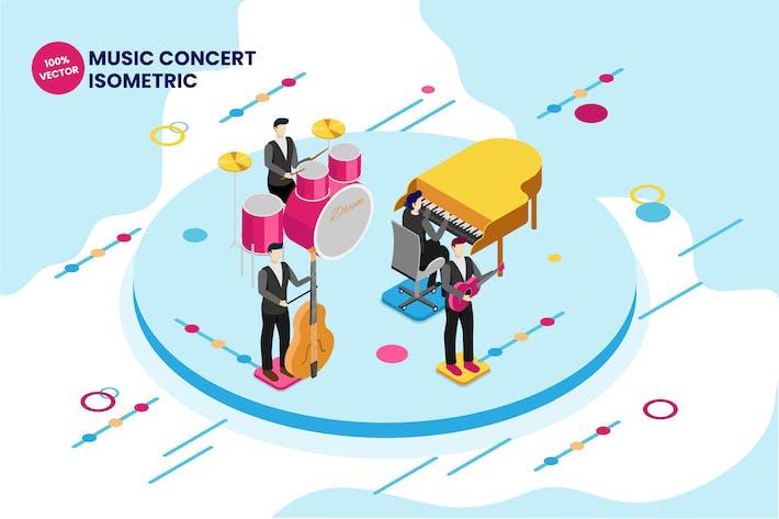 Thumbnail for Isometric Music Concert Vector Illustration