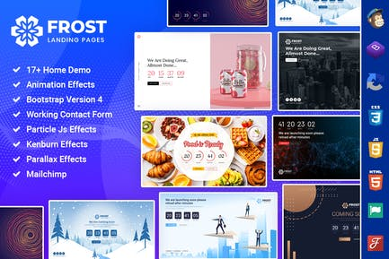 Frost - Coming Soon, Under Construction Template
