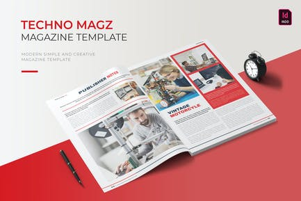 Techno   Magazine Template