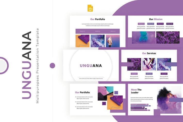 Thumbnail for Unguana - Google PräsentationsVorlage
