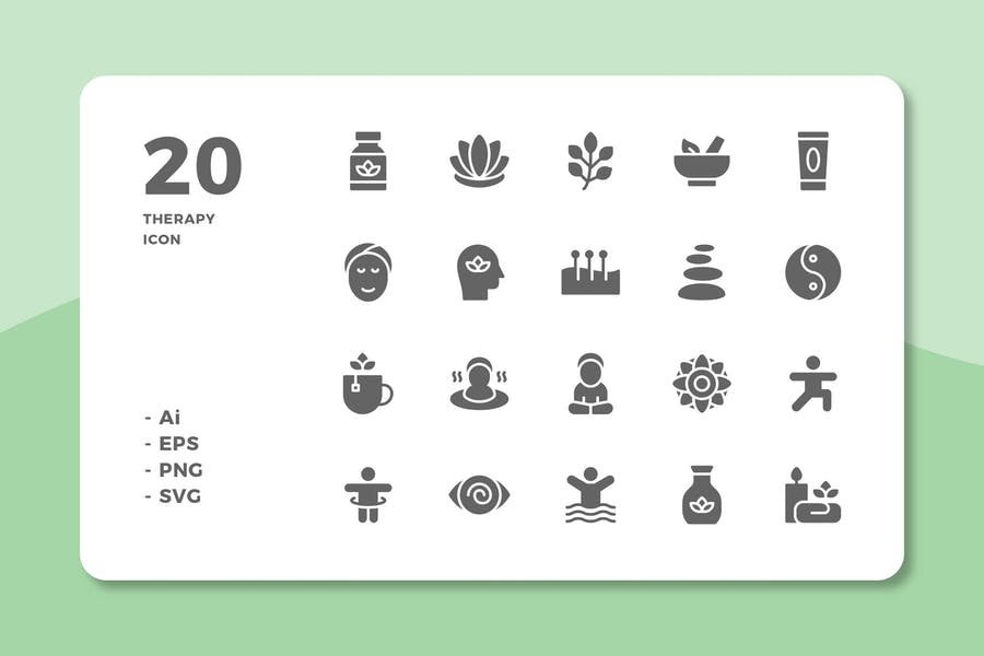 20 Therapy Icons (Solid)