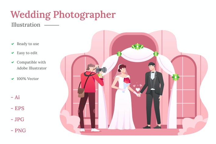 Thumbnail for Wedding Photographer Illustration