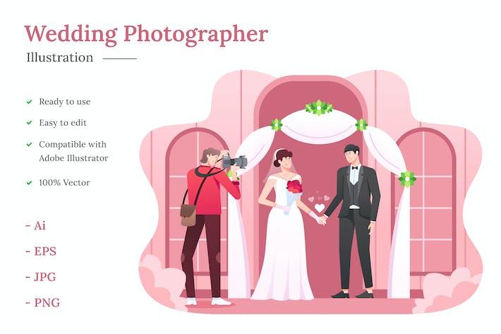 Thumbnail for Hochzeitsfotograf Illustration