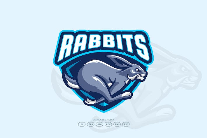 Thumbnail for Jump Speed Fast Rabbit Bunny Logo Template
