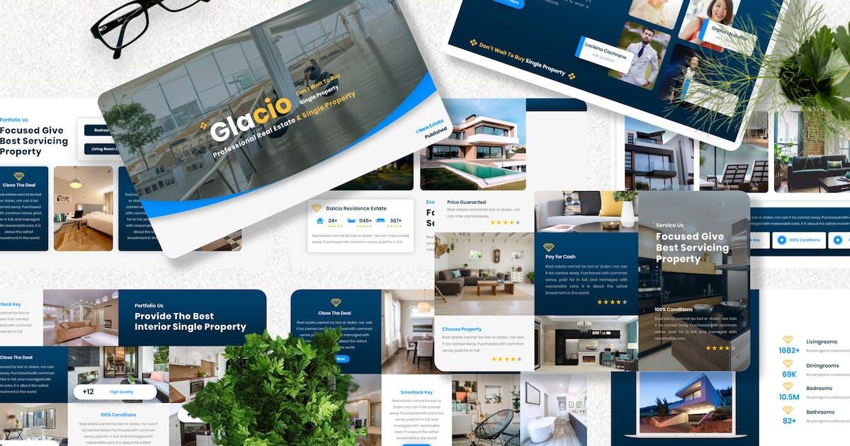 Download Glacio - Real Estate Keynote Template by Yumnacreative