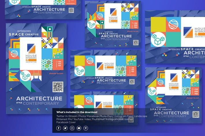 Thumbnail for Interiors & Architecture-Social Media Template