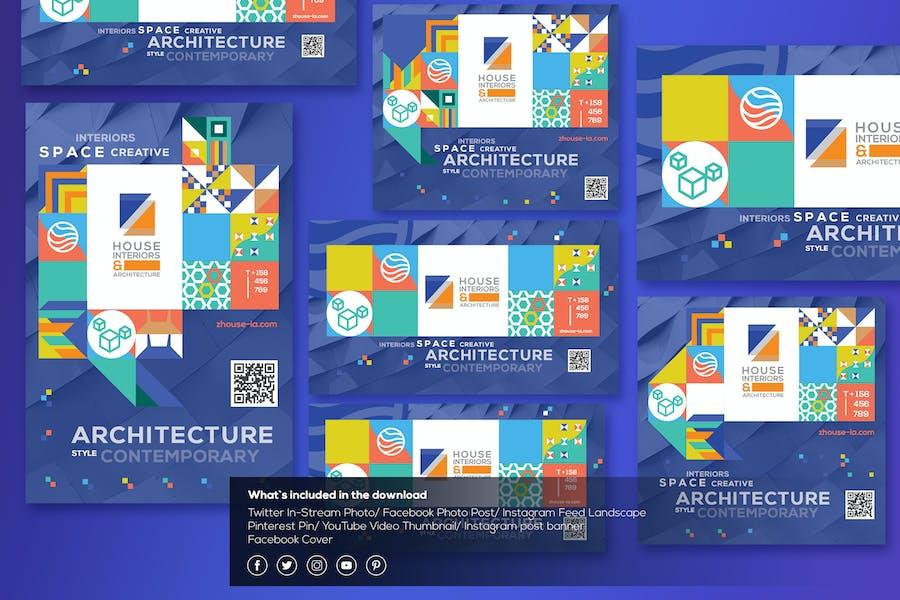 Interiors & Architecture-Social Media Template