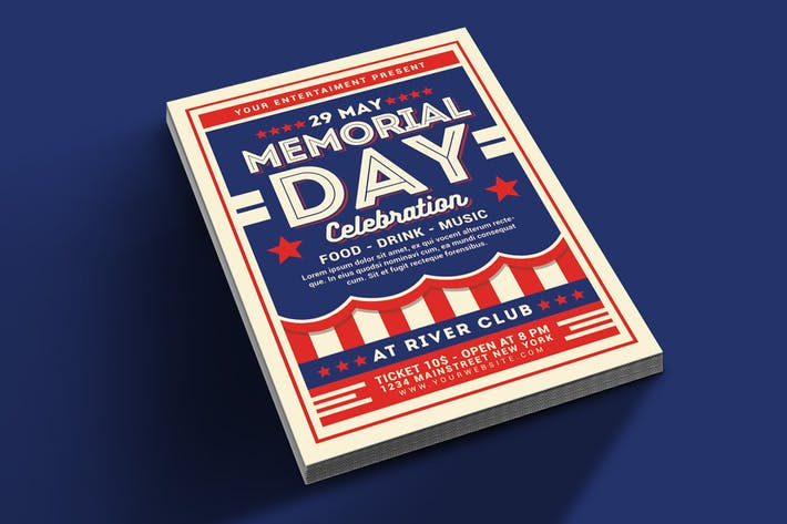 Cover Image For Memorial Day Celebration Flyer