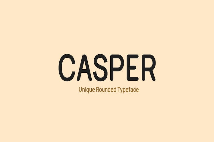 Thumbnail for CASPER - Unique Rounded Typeface