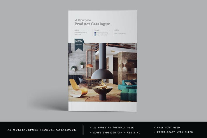 Thumbnail for A5 Multipurpose Catalogs / Brochure Template