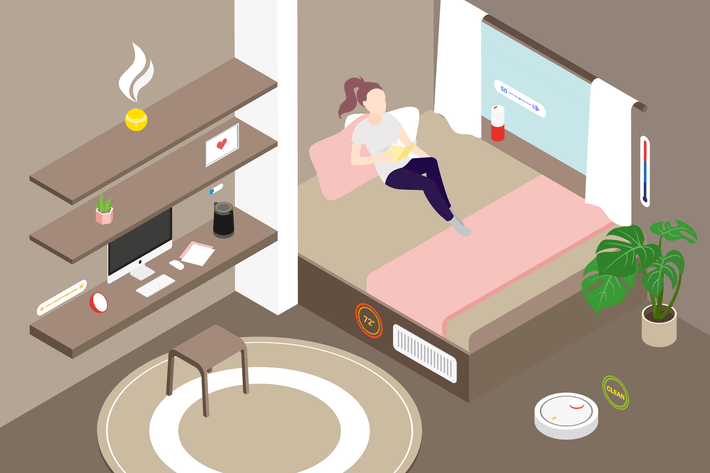 Thumbnail for Smart Home Livingroom Isometric Illustration