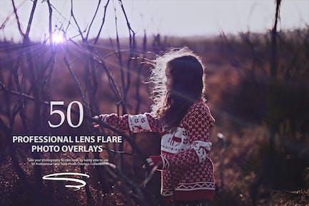 50 Professional Lens Flare Photo Overlays - Vol 1