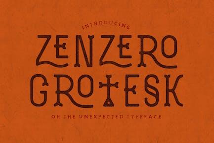 Zenzero Grotesk Police de caractères