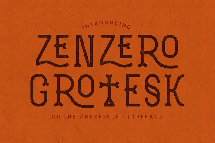 Thumbnail for Zenzero Grotesk Typeface