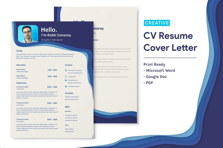 Thumbnail for Rokki Conoroy  - CV Resume Template