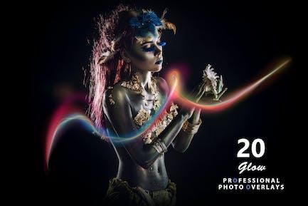 20 Glow Photo Overlays