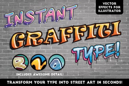 Instant Graffiti Type Effects