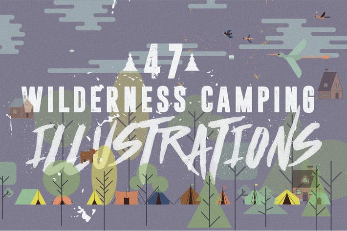 Thumbnail for 47 Camping Vector Illustrations