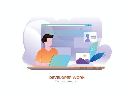 Entwicklerarbeit Vektor illustration