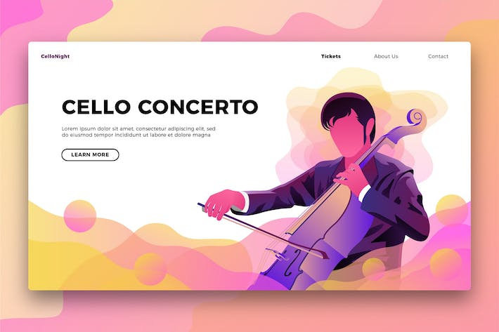 Thumbnail for Cello Music - Banner & Landing Page