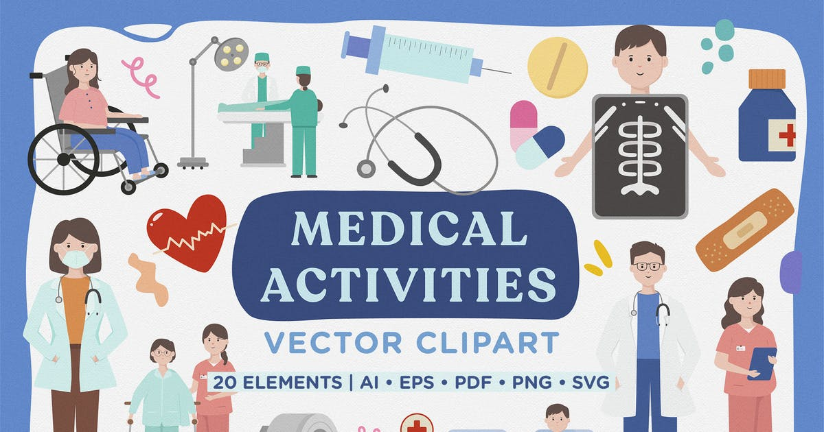 Download Medical Activity Vector Clipart Pack by telllu