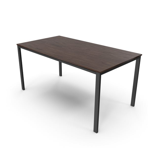 Office Table Walnut Black