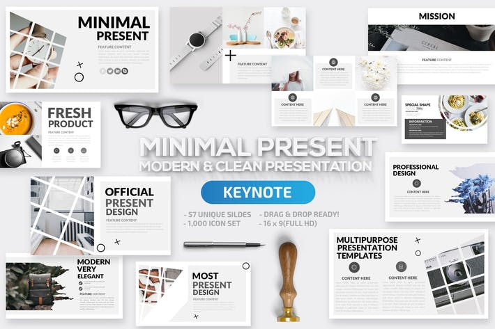 Thumbnail for Minimal Keynote Template
