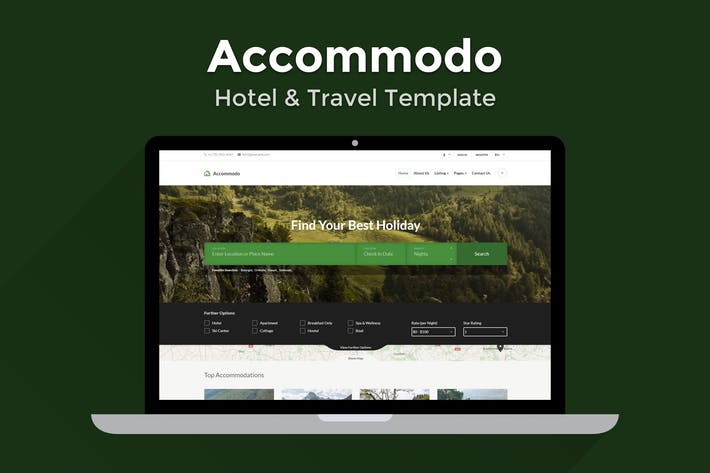 Cover Image For Accommodo - Hotel & Travel Template