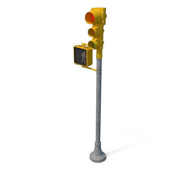 Stop Light Walk Sign with Red Light