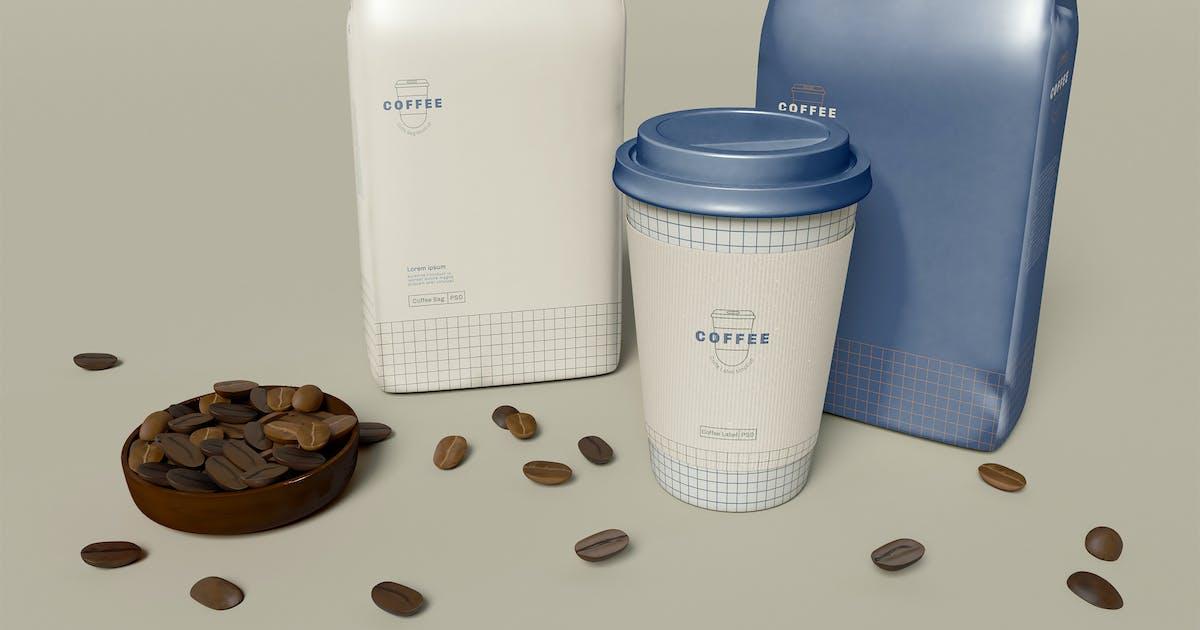 Download Coffee Packaging Design Mockup by megostudio