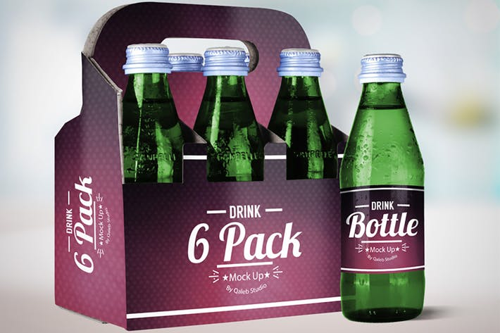 Thumbnail for Drink Bottle & 6 Pack Mock Up V.2