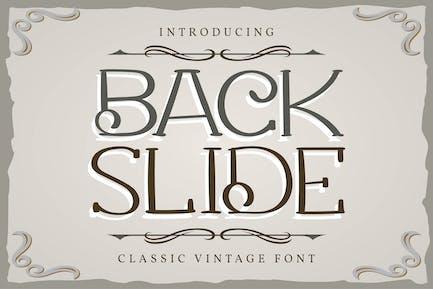 Back Slide | Classic Vintage Font