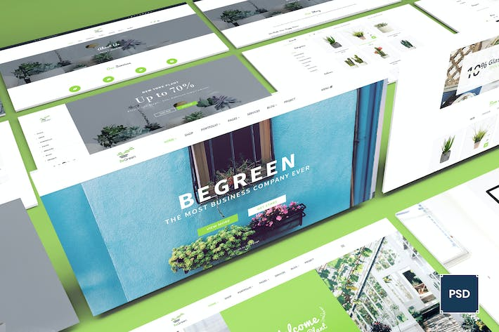 Thumbnail for BeGreen - Multipurpose Planter PSD Template