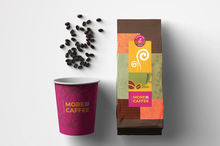 Thumbnail for Coffee Bag Packaging Template