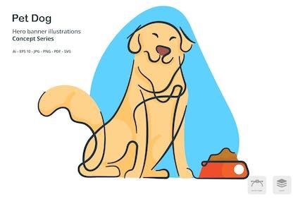 Dog Pet Vector Illustration