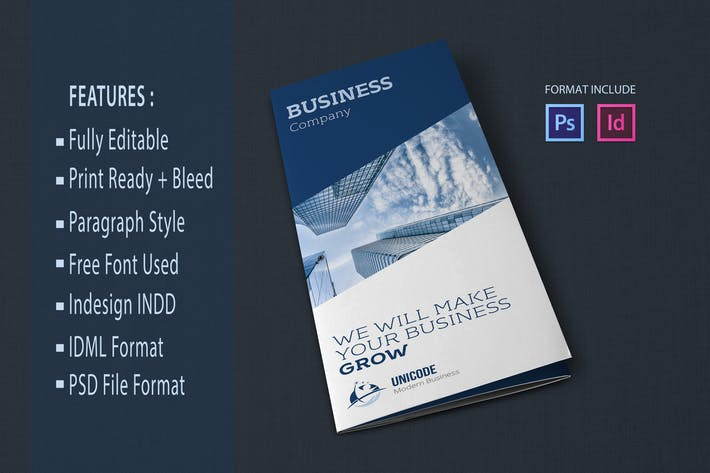 Thumbnail for Trifold Business Brochure Template