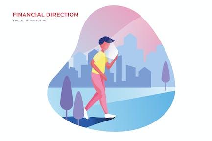 Financial direction vector illustration