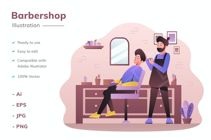 Thumbnail for Barbershop Illustration