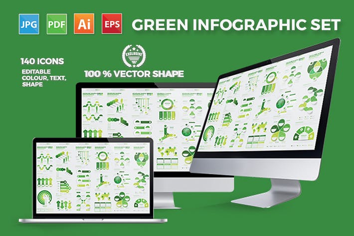 Thumbnail for Green Infographics Design