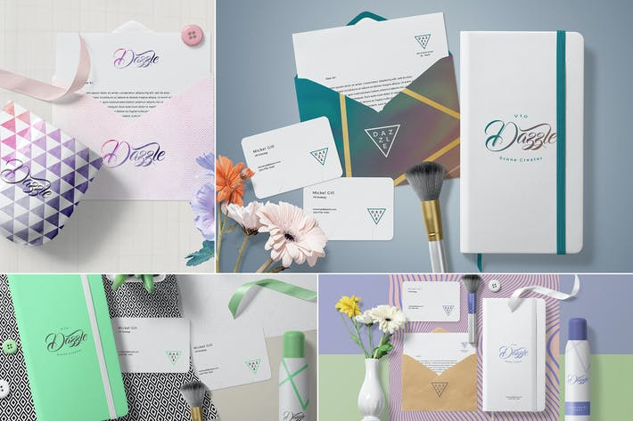 Thumbnail for Premium Stationery Mockup Scenes