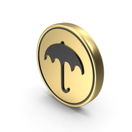 Umbrella Coin Logo Icon