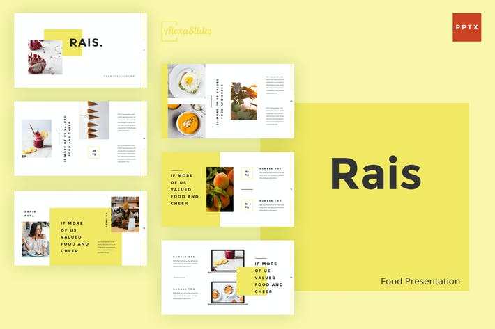 Thumbnail for Rais - Food Powerpoint Template