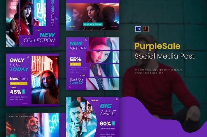 Thumbnail for Purple Sale | Socmed Post