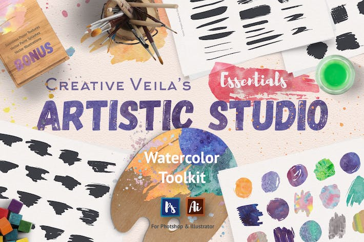 Cover Image For Artistic Studio: Watercolor Toolkit