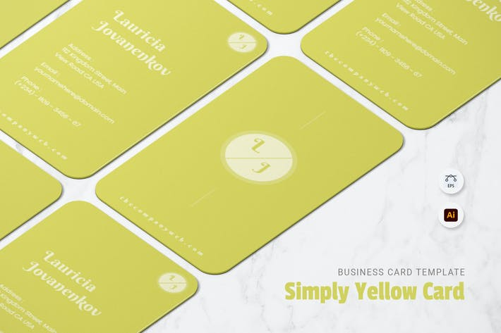 Thumbnail for Simply Yellow Business Card