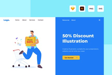50% Special Discount illustration