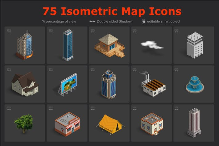 Thumbnail for Isometric Map Icons