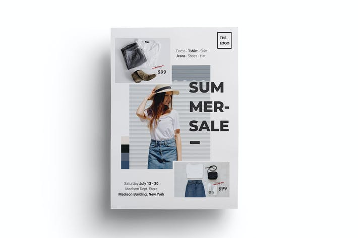 Thumbnail for Summer Sales Fashion Flyer