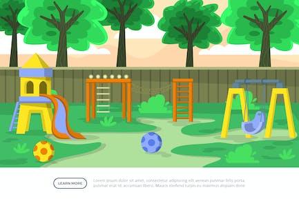 Playground - Ilustración de fondo